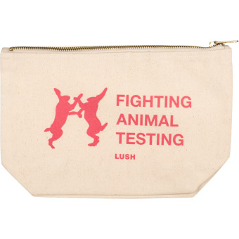 snow fairy fighting animal testing cosmetic pouch