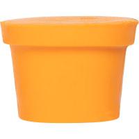 Ein oranger, fester Body Conditioner in der Form eines Lush Blackpots