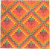 multicoloured spring themed wax wrap