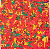 Aerobics themed multicoloured knot wrap