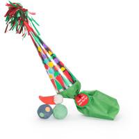 Confezione regalo di Natale Take Hat and Party a forma di cappello a cono e il suo contenuto