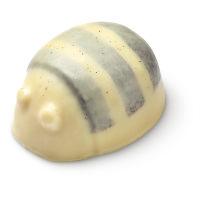 a scrubee body conditioner scrub shaped like a bee