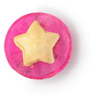 snow fairy crystal ball bomba de baño de navidad gigante de color rosa con la tapa en forma de estrella amarilla