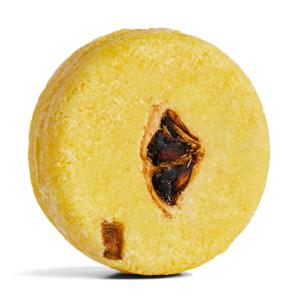 champú sólido zero waste de color amarillo Montalbano con zumo de limón