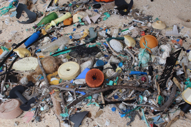 Rubbish on Henderson Island - photographer Jennifer Lavers