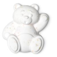 bomba de baño de color blanco con forma de oso polar
