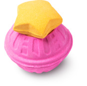 bomba de baño gigante de color rosa