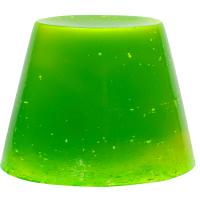 calacas gelatina de ducha de color verde transparente