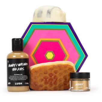 Um presente recheado de produtos com mel