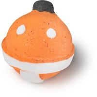 yokozuna  bomba de baño en forma de sumo de color rojo naranja