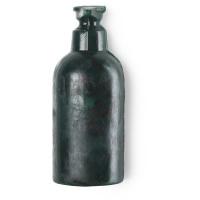 Sapone liquido solido verde a forma di bottiglia di sapone