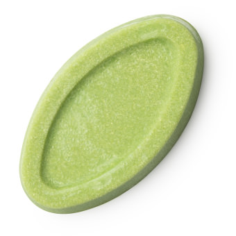 Festes, grünes, ovales Gesichtsöl