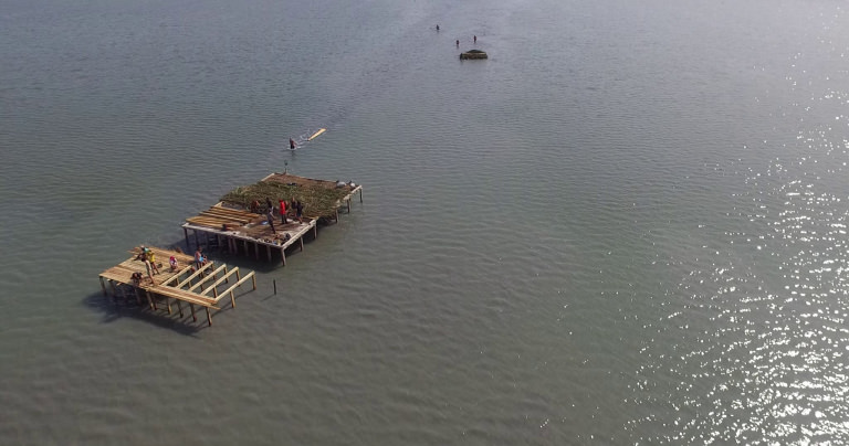 Pelican platform Atanasovsko Lake