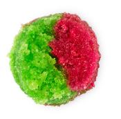 a red and green sugar based lip scrub