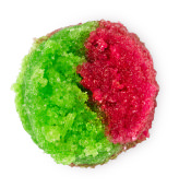 a red and green sugar based lip scrub