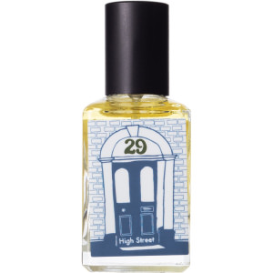 29 high street perfume bottle on a table