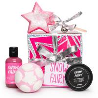 Confezione regalo di Natale Snow Fairy e il suo contenuto
