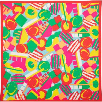 Ein buntes Knot Wrap voller Süßigkeiten
