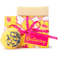 Buttercup Gift as viewed from the front with products