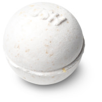 creamy white coloured mini bath bomb
