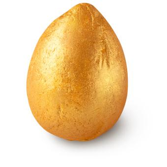 gold coloured egg shaped bath bomb