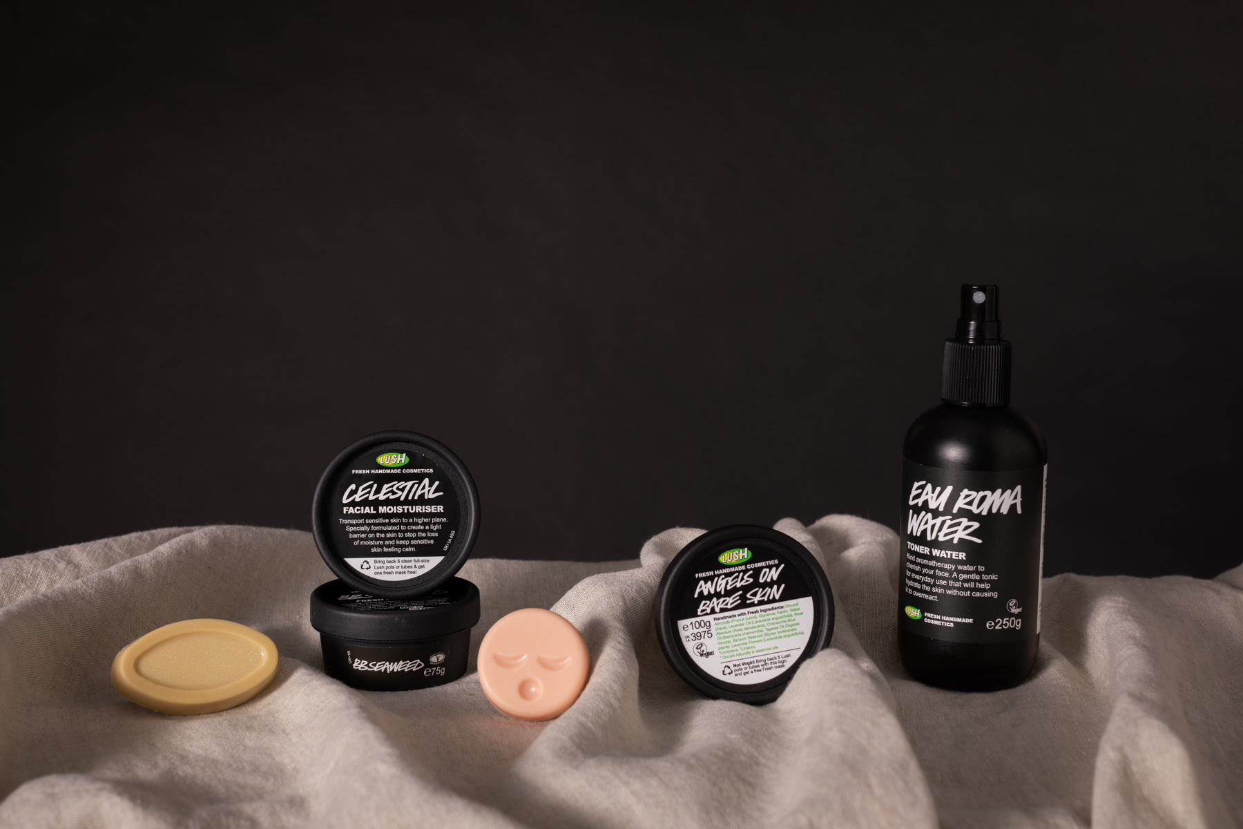 A selection of skincare products