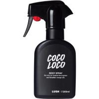 Coco Loco Body Spray in einer schwarzen Flasche
