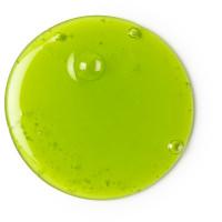 Una goccia di gel doccia Grass di colore verde