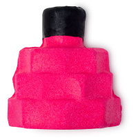 pink squared bottle shaped perfume scented bubble bar