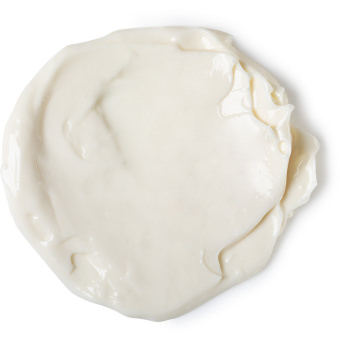 A white body lotion splotch