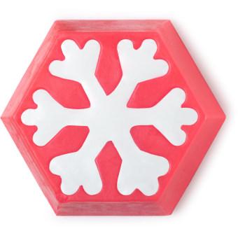 Snow Fairy - Sapone fatto a mano a forma di fiocco di neve rosso e bianco   Edizione Limitata Natale 2019