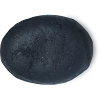 black coloured oval shaped conditioner bar