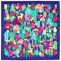 Winter wonderland é um dos lenços de natal cheio de criaturas coloridas na floresta