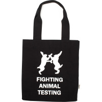 fighting animal testing canvas bag