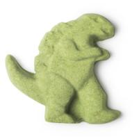 roar bomba de baño en forma de dinosaurio de color verde