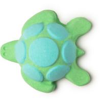 Bomba da bagno a forma di tartaruga marina verde e azzurra