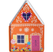 a gingerbread style house tin