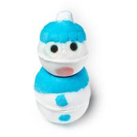 Snowman é uma das bombas de banho de natal em forma de boneco de neve com aroma a mentol