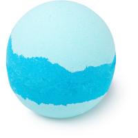 Frozen bomba de baño de color azul con purpurina plateada