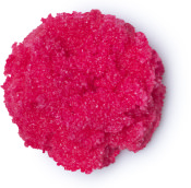 A pink blob of the cherry lip scrub