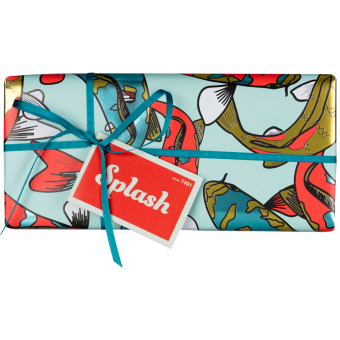 The front view of the Splash gift box