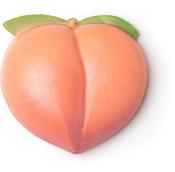 peachy jabón en forma de emoji de melocotón color naranja
