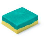 esfoliante de corpo sólido verde e amarela