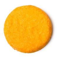 Brazilliant champú sólido de color naranja con naranjas y aceite de andiroba para el pelo rizado