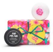 Rosa badpaket från Lush