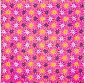 pink knot wrap with white pink and yellow stars