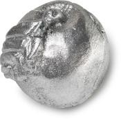 Silber glitzernde Seife in Form eines Apfels