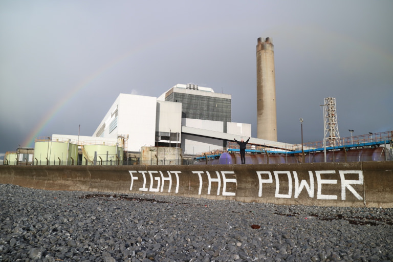 Aberthaw protest