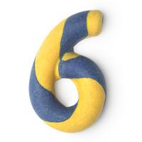six bubble bar blue yellow