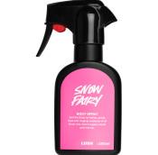 schwarze sprühflasche mit pinkem label